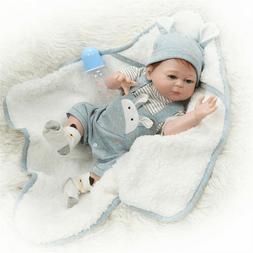 """Cute Reborn Baby Dolls Boy Silicone Full Body 20"""" newborn do"""