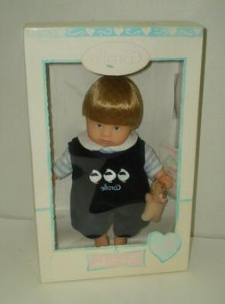 "2001 Corolle Vintage Mini Baby Boy with teddy  Doll 8"" NEW I"