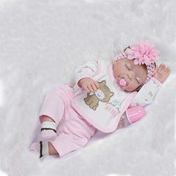 """iCradle 22"""" 55cm Lifelike Sleeping Girl Full Body Vinyl Sili"""