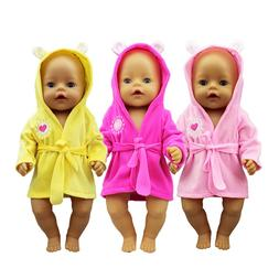 2019 New bathrobe <font><b>Doll</b></font> Clothes Fit For 4