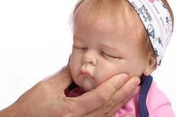 "21"" Reborn Girls Baby SOFT SOLID silicone Realistic Newborn"