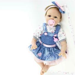 "22"" Bebe Reborn Baby Girl Doll Soft Vinyl Silicone Lifelike"