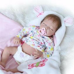 "22"" Bebe Reborn Baby Girl Dolls Silicone Vinyl Lifelike Newb"