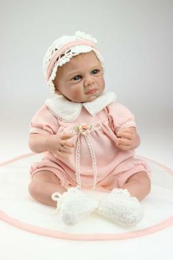 "22"" Bebe Reborn Baby Girl Dolls Soft Silicone Vinyl Likelife"