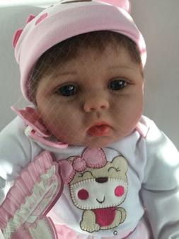 "22"" Elane Reborn Baby Lifelike Soft Vinyl Real Life Girl D"