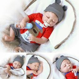 "22"" Full Body Silicone Reborn Doll Supplies Washable Sleepin"