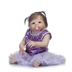 "22"" Full Body Silicone Vinyl Reborn Baby Girl Dolls Likelife"