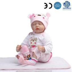 "22"" Handmade Lifelike Baby Boy Doll Silicone Vinyl Reborn Ne"