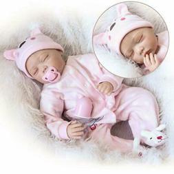 "22""Handmade Lifelike Baby Girl Doll Silicone Vinyl Reborn Ne"