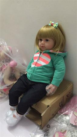 "22"" Handmade Reborn Baby Dolls Toddler Girl Realistic Kids T"
