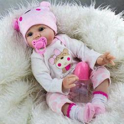 22'' Handmade Reborn Baby Dolls Vinyl Silicone Lifelike Doll