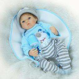 22'' Handmade Reborn doll Lifelike Soft Vinyl silicone blue