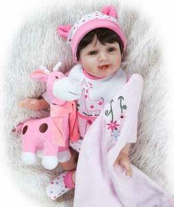 "22"" Handmade Silicone Reborn Baby Dolls Toy For Girl Boy Kid"