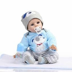 22' Reborn Baby Dolls Lifelike Newborn Silicone Vinyl Boy Do
