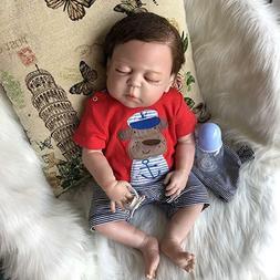 """22"""" Lifelike Baby Doll Silicone Vinyl Reborn Newborn Boy Sle"""
