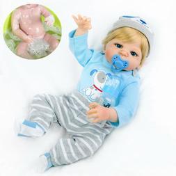 22 Lifelike Full Body Vinyl Silicone Reborn Baby Doll Boy Re