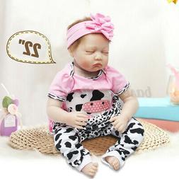 "22"" Lifelike Reborn Baby Doll Newborn Gift Soft Silicone Vin"