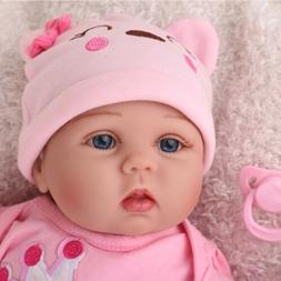 "22""Lifelike Reborn Baby Doll Vinyl Silicone Newborn Girl Han"