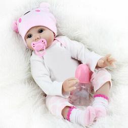 22'' Lifelike Newborn Silicone Vinyl Reborn Gift Baby Doll H