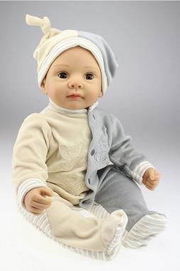22''Lifelike Soft Dolls Silicone Reborn Baby Dolls Handmade
