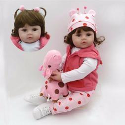 22'' New Reborn Handmade Lifelike Newborn Girl Doll Silicone