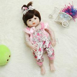 22'' Newborn Dolls Silicone Girl Baby Toddler Doll Toy Lifel