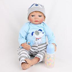 "22""Newborn Reborn Baby Dolls Silicone Vinyl Realistic Toddle"