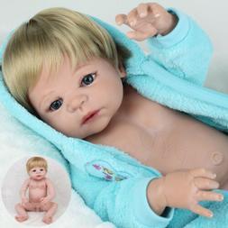 "22"" Realistic Boy Doll Reborn Baby Dolls Full Body Vinyl Sil"