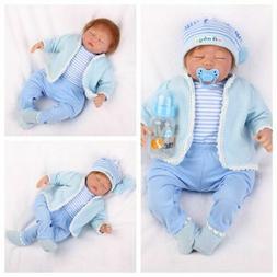 22'' Realistic Reborn Baby Dolls Sleeping Boy Doll Vinyl Sil