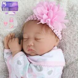 22'' Realistic Reborn Baby Dolls Vinyl Silicone Girl Doll +