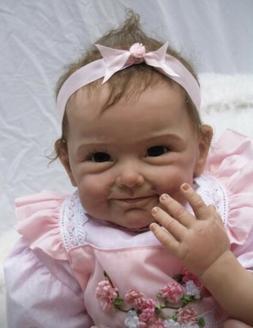 "22"" Reborn Baby Doll Cute Realistic Soft Silicone Vinyl Ne"