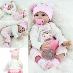 22'' Reborn Baby Doll Full Body Silicone Handmade Girl Doll