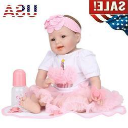 "22"" Reborn Baby Dolls Artificial Realistic Toddler Girl Viny"