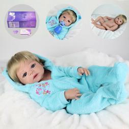 """22"""" Reborn Baby Dolls Full Body Vinyl Silicone  Boy Doll Rea"""