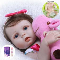 "22"" Reborn Baby Dolls Full Body Vinyl Silicone Girl Doll Rea"
