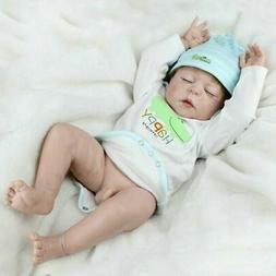 "22"" Reborn Baby Dolls Full Body Vinyl Silicone Newborn Baby"