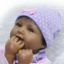 "22"" Latino Newborn Baby Realistic Reborn Baby Dolls Dark Ski"