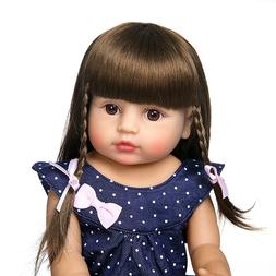 "22"" Reborn Baby Dolls Lifelike Baby Full Silicone Anatomical"