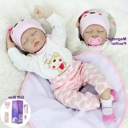 "22"" Reborn Baby Dolls Real Life Like Newborn Girl Silicone V"