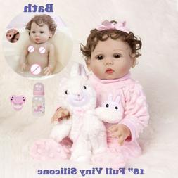 "22"" Reborn Baby Dolls Vinyl Silicone Girl Lifelike Newborn B"