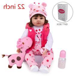 "22"" Bebe Reborn Baby Dolls Vinyl Silicone Girl Toddler Newbo"