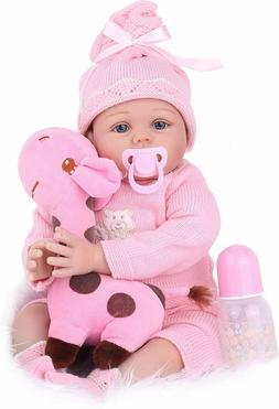 22'' Reborn Baby Dolls Vinyl Silicone Handmade Newborn Girl