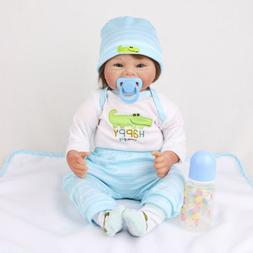 "22"" Reborn Baby Dolls Vinyl Silicone Lifelike Kids Toy Gift"