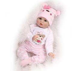 22'' REBORN BABY GIRL DOLLS SOFT REALISTIC VINYL LIFELIKE NE