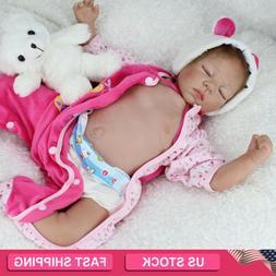 "22"" Reborn Dolls Lifelike sleeping Newborn Babies Vinyl Sili"