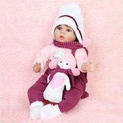 """22"""" Reborn Dolls Real Baby Doll Realistic Silicone Vinyl New"""