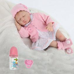 22'' Reborn Dolls Vinyl Silicone Newborn Girl Toy Sleeping L