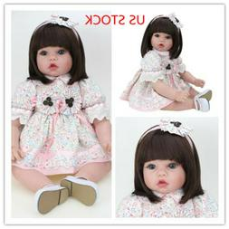 22'' Reborn Girl Doll Gift Newborn Baby Dolls Toddler Wigs T