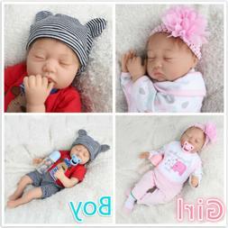"22""Twins Girl+Boy 2pcs Reborn Baby Doll Newborn Vinyl Silico"