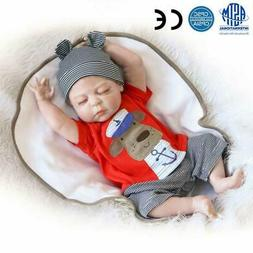 "23"" Full Body Silicone Reborn Baby Sleeping Doll Soft Vinyl"